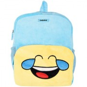 Smiley World Face With Tears of Joy Soft Toy School Bag Blue 14 Inch by Ultra