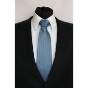 Pánská modrá klasická kravata s kostičkami - 8 cm