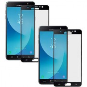 Digiprints Pack Of 2 Tempered Glass Combo For Samsung Galaxy J7 Nxt Samsung Galaxy J7 Nxt Black tempered glass Screen Guard
