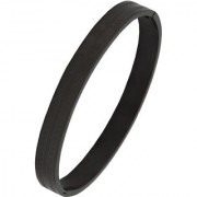 The Jewelbox Italian Designer Black 316L Surgical Stainless Steel Openable Bangle Kada Bracelet Men Boys
