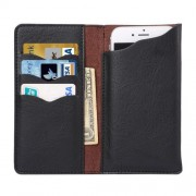 4.3 - 4.8 Inch Universal Elephant Texture Carry Cases with Wallet & Card Slots for iPhone 6 & 6s Sony Xperia Z5 Compact Nokia Lumia 1020(Black)