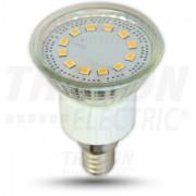 LED-es fényforrás, ( 15 LEDES spot ), 4W-os teljesítményű, E14 foglalattal, 6400K-es színhőmérsékletü, SMD LED ( 320 lm ) Tracon ( SMD-E14-15-CW )