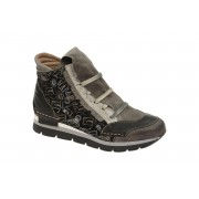 Charme Stiefelette schwarz grau kombi Boots 1110