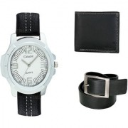 Crude Smart Combo Analog Watch-rg203 With Leather Belt Wallet