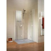 Schulte Home Accès d'angle pivotant-pliant Confort, 90 x 90 cm, anticalcaire, profilé blanc