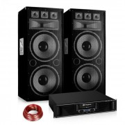 "Conjunto PA Saphir Series ""Warm Up Party"" 215PLUS Dois Altifalantes e Amplificador"