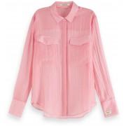 Maison Scotch Classic shirt in sheer quality sorbet pink