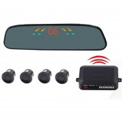 Pz-306-w Car Parking Reversing Buzzer 4.3inch Pantalla LCD Inversa Sensores De Aparcamiento Automático Sistema De Ayuda Aparcamiento Inalámbrica Alarma Inalambrica Con 4 Sensores De Reversa Radar