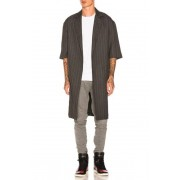 Fear of God Wool Striped Overcoat in Gray,Stripes. - size L (also in M,S,XL)