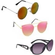 Vitoria Round, Over-sized, Cat-eye Sunglasses(Multicolor)