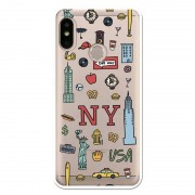 Unique Be Unique Capa Gel New York para Xiaomi Mi A2 Lite/Redmi 6 Pro