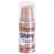 Lirene Shiny Touch maquillaje fluido iluminador 16h tono 107 Beige (SPF 8) 30 ml