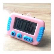 Cocina Temporizador Electrónico Digital Con Pantalla LCD De Alarma Alto Horno Para Cocinar Juegos De Deportes Office (rosa)