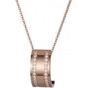 Preciosa Bronzový náhrdelník Mia s čirými krystaly 7224P00L