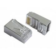 Gembird shielded LAN modular plug 30u-- gold plated ( set de 10 buc.)