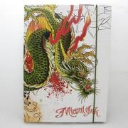 Miami Ink füzettartó - A4 - zöld sárkány