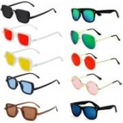 SO SHADES OF STYLE Wayfarer, Round, Aviator, Rectangular Sunglasses(Red, Black, Brown, Yellow, Blue, Green, Pink)