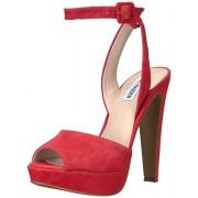 Steve Madden Women's Amber Dress Sandal, Red Suede, 5.5 M US