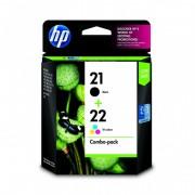 Pack HP 21/22 (CC630AA) Preto + Tricolor