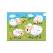 Set 4 puzzle-uri Animale de la ferma, 4, 6, 8, 12 piese, 3 ani+