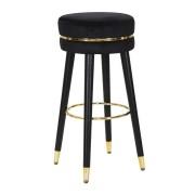 Scaun de bar PARIS negru auriu (cm) O 35X74