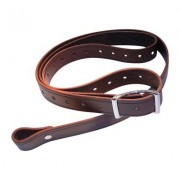 Andys Leather Rhodesian Slings - 1.25 Rhodesian Sling W/ Stainless Steel Hard Swiv Walnut