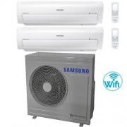 Samsung Climatizzatore Condizionatore Samsung AR7000M Dual Split Inverter 12000 + 12000 BTU con U.E. AJ068FCJ3EH/EU Classe A+/A+