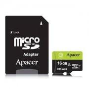 Памет Apacer 16GB MicroSDHC UHS-I U3 95/45 Class10 (1 adapter) AP16GMCSH10U3-R