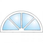 Dörrtema Dekorfönster Halvmåne spröjs Modul 12x6
