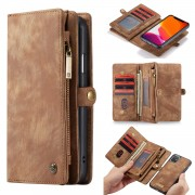 CASEME 008 Series Detachable Split Leather Wallet Phone Case Covering for iPhone 11 6.1 inch (2019) - Brown
