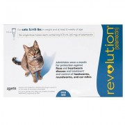 Revolution (Blue) 3 Doses for Cats 5 -15lbs