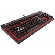 Tipkovnica Corsair STRAFE Mechanical Gaming Keyboard — Cherry MX Red (EU), USB, crna, 12mj, EU layout, (CH-9000088-EU)