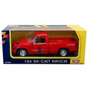 Motormax 1992 Chevy 454 Ss Pickup Truck 1/24 Scale Diecast Model Car Red