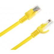 Cablu UTP Intex KOM0122, Patchcord, CAT.5e, 1m (Galben)