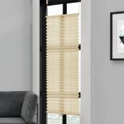 Klemmfix Plissee - 35 x 125 cm - krémová - ochrana proti slunci a světlu - neprůhledné - bez otvorů