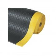 Arbeitsplatzmatte, PVC Breite 1220 mm, pro lfd. m schwarz/gelb