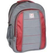 Classic Polyester School Bag |Shoulder Backpacks 36 L Laptop Backpack(Grey, Red)
