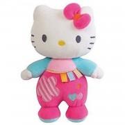 Jemini hello kitty knuffel rammelaar meisjes roze 21cm