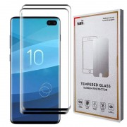 Protetor de Ecrã Saii 3D Premium para Samsung Galaxy S10+ - 2 Unidades