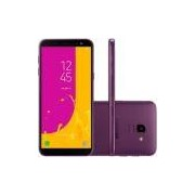 Smartphone Samsung Galaxy J6, 64GB, 13MP, Tela 5.6´, TV Digital, Violeta - SM-J600GT