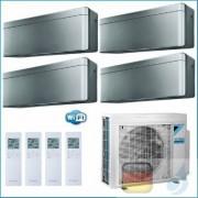 Daikin Klimaanlagen Quadri Split R-32 Stylish Silbernen 7+7+12+12 WiFi FTXA20AS FTXA20AS FTXA35AS FTXA35AS 4MXM80N A++/A++
