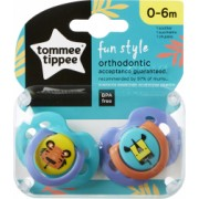 Set Suzete Ortodontice de Zi FUN Tommee Tippee 0-6 Luni 2 buc Tigru / Girafa