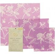 Bee's Wrap Bienenwachstuch Starter Set - Mimi's Purple