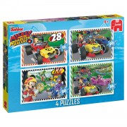 Jumbo 4-in-1 puzzel Disney Mickey Mouse en de wegracers - 12 + 20 + 30 + 36 stukjes