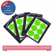 Safe-O-Kid Pack of 24(+6 Free) BABY GREEN Color Mosquito Repellent Patches