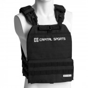Capital Sports Battlevest 2.0, жилетка с тежести, 2 х 2 тежести 2,6 и 4,0 кг, черна (FIT20-BV 29lbs BK)