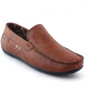 ROBBOX Premium Look Tan Casual Stylish Loafer Shoes For Men's (6 UK/INDIA)