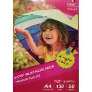 Printflow Compatível: Papel Fotográfico Jato de Tinta A4 Brilhante (130g / 50 folhas)