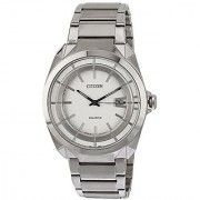 Citizen Eco-Drive Analog White Dial Mens Watch - Aw1010-57B