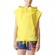 adidas Women's Stellasport Sleeveless Gym Hoody - Yellow - XXS/UK 0-2 - Yellow